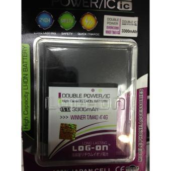 LOG-ON Battery For Evercoss WINNER T / M40 4G- 3300mAh Double Power& IC - Garansi 6 Bulan