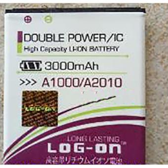 LOG-ON Battery For Lenovo A1000 / A2010 3000mAh - Double Power& IC Battery - Garansi 6 Bulan
