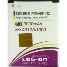 LOG-ON Battery For Lenovo A319 3000mAh - Double Power & ICBattery - Garansi 6