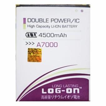 LOG-ON Battery For Lenovo A7000 4500mAh - Double Power & ICBattery - Garansi 6 Bulan