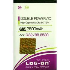 LOG-ON Battery untuk BB 8220 1800mAh - Double Power & IC Battery - Garansi