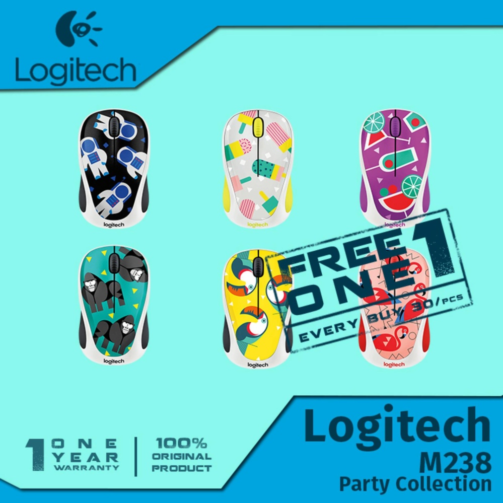 Logitech Wireless Mouse M238 Party Collection Flamingo Update L070