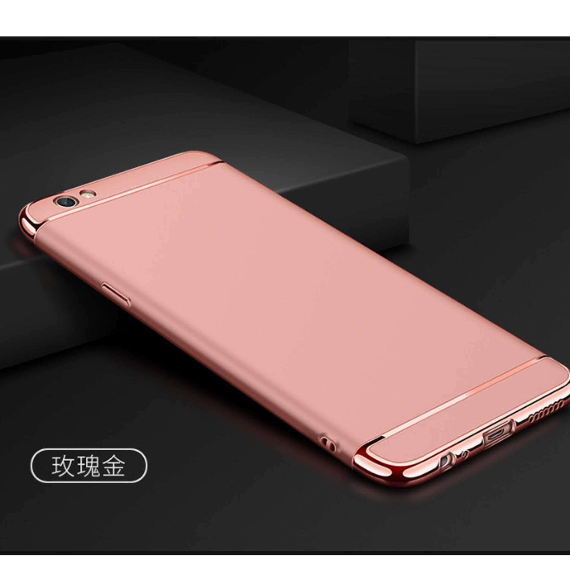 Flash Sale LongTeng 3 in 1 PC Protective Back Cover Case For OPPO F1s / OPPO A59 / OPPO A59s (Rose Gold) - intl