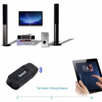 Lucky Bluetooth Audio Receiver Adapter Music For Speaker 3.5mm Stereo - Hitam - 3