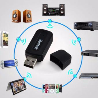 Lucky Bluetooth Audio Receiver Adapter Music For Speaker 3.5mm Stereo - Hitam - 2