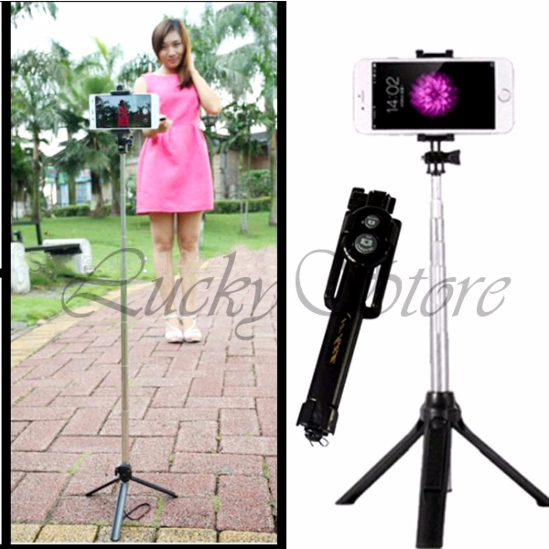 Next Tongsis 3 In 1 Selfie Stick Built In Bluetooth Tripod Hitam Source · Lucky Tongsis