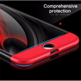 Luxury 3 in 1 Combo Case For Apple iPhone 7 plus 5.5inch 360 DegreeCoverage Armor Hard PC Back Cover Slim Full Body Phone Shell+GlassScreen Protector - intl - 3