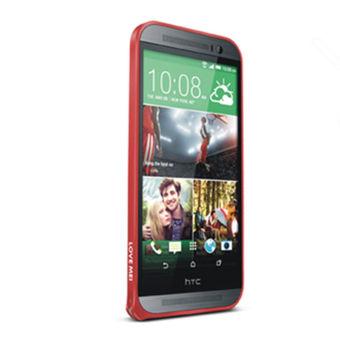Luxury Aluminum Metal Bumper Case for HTC One M8 (Red)