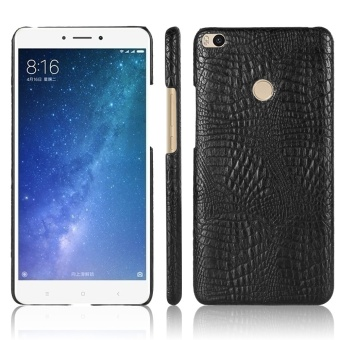 Luxury PU Leather Crocodile Skin Texture And Hard PC Back Cover Phone Housing For Xiaomi Mi Max 2 Handphone Casing - intl