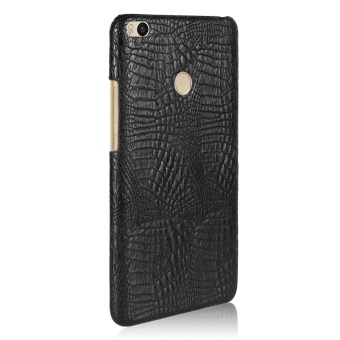 Luxury PU Leather Crocodile Skin Texture And Hard PC Back Cover Phone Housing For Xiaomi Mi Max 2 Handphone Casing - intl - 3