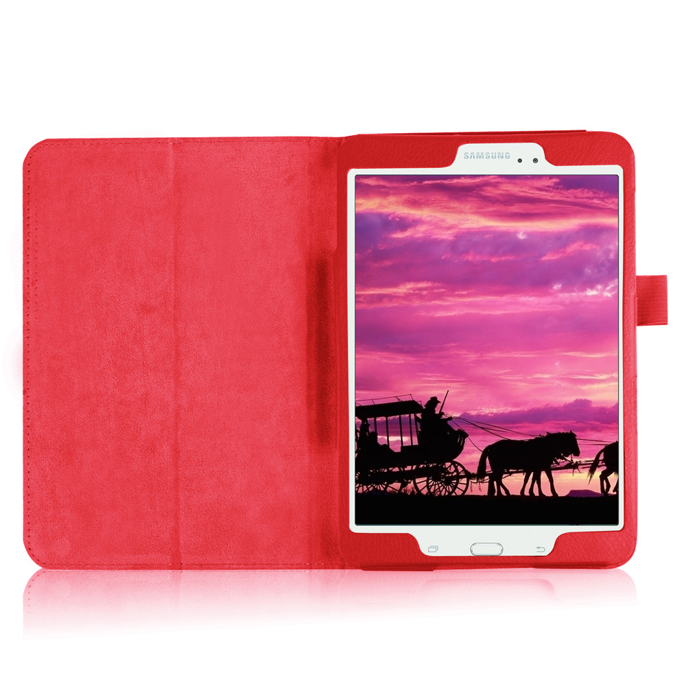 Lychee Skin Leather Smart Cover for Samsung Galaxy Tab S2 8.0 T715 T710 .