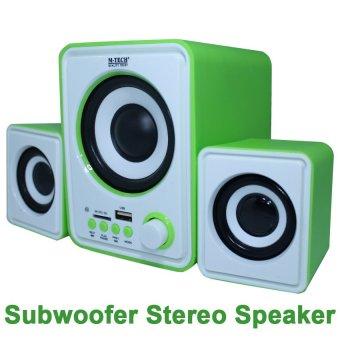 Belanja Terbaik M-Tech Speaker Portable Subwoofer Stereo Speaker SB05 - Hijau Harga Penawaran