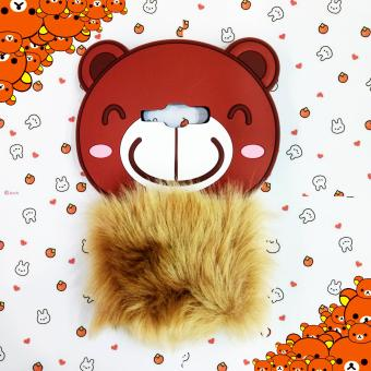 marintri case Samsung Galaxy J1 ace Beruang Bulu