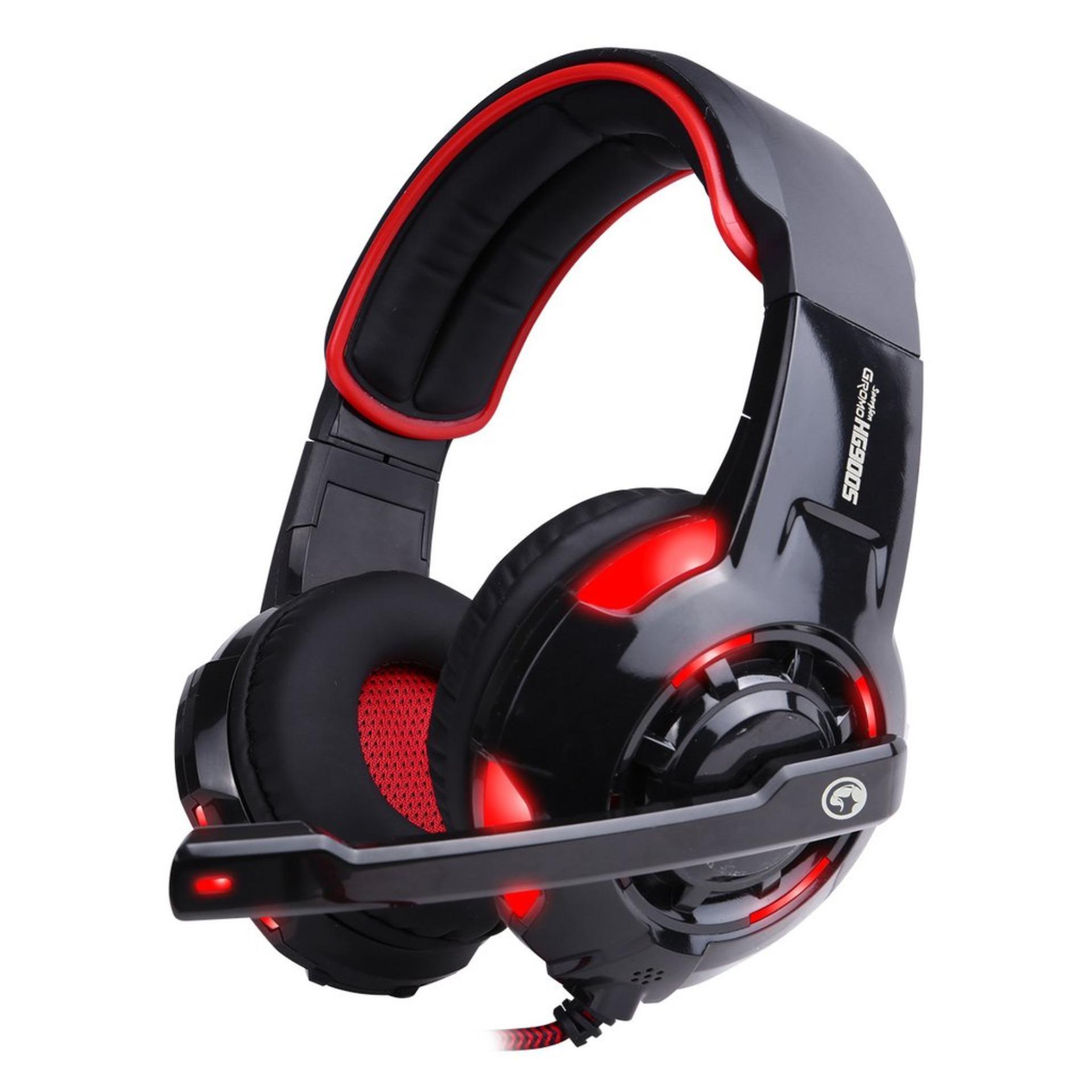 Marvo H8316 Gaming Headset Braided Cable Hitam Merah Daftar Harga Headphone H 8631 Hg9005 Usb Surround 71