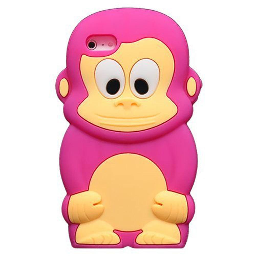 Leegoal Hijau Muda Pc Merah Silikon Kupu Pola Suku 3 In 1 Rearth Iphone 4s Ringke Kiwi Flash Sale Mawar Lucu Hewan 3d Monkey King Case Kulit Penutup Untuk 5