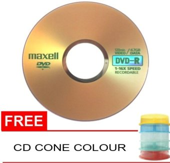 Harga Maxell DVD-R 16X Speed Recordable - 10 Pc + CD Cone