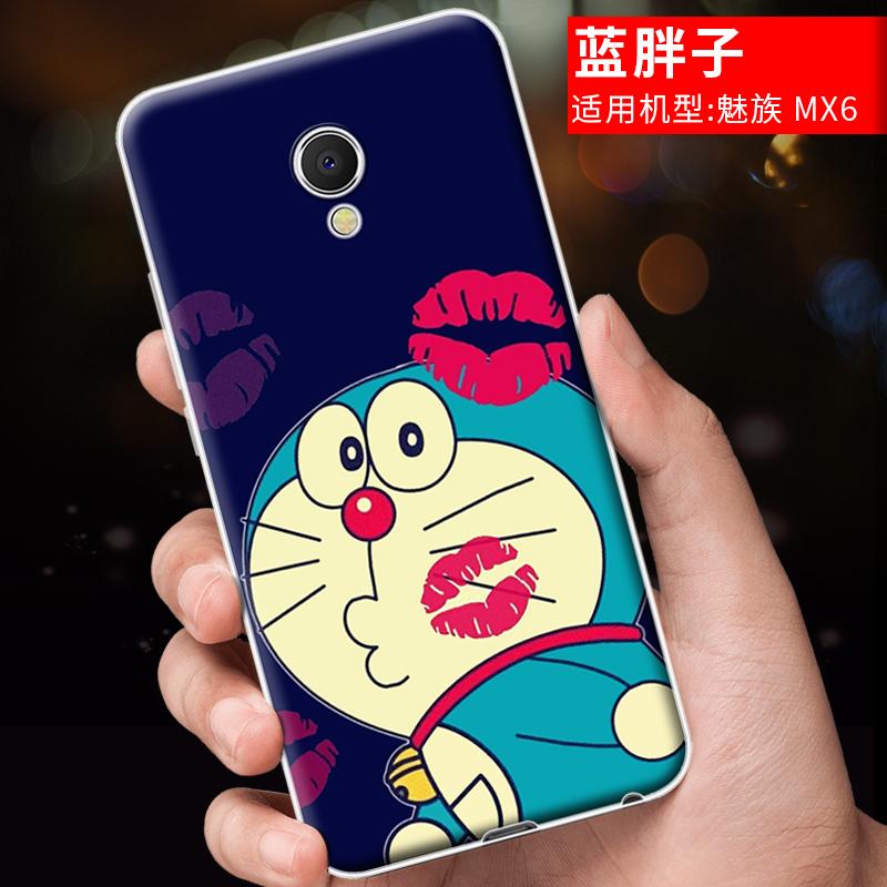 Meizu mx6/mx6 kartun ponsel set telepon silikon shell transparan shell telepon