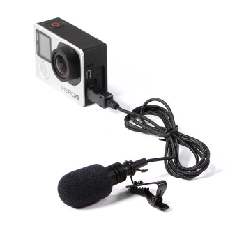 Meking Professional Preminum Flexible Lavalier Mini Microphone forGopro Hero 3 3+ 4 Action Camera