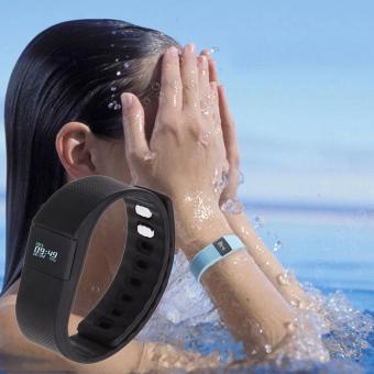 Detail Gambar Memperbarui Waterproof Bluetooth gelang tangan untuk Android iOS (hitam) Terbaru