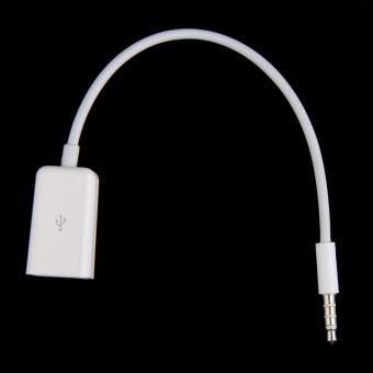 Harga Menyinkronkan 3.5 mm audio jack aux Bantu Pria steker ke kabel USB kabel konverter (