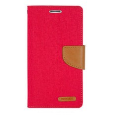 Mercury Canvas Diary Case Vivo Y22 Flip Cover  - Merah