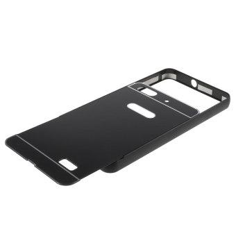 Metal Bumper Slide-on Plastic Back Case for Huawei Honor 4C (Black)