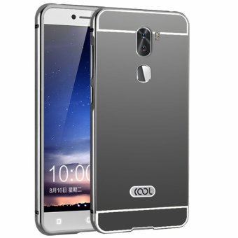 Metal Frame Mirror Back Cover Case For Coolpad Cool1 / Letv LeEcoCoolpad Cool1 Dual / Letv LeEco Cool1 (Black)