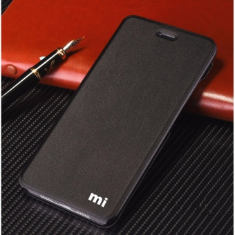 MI Flip Leather phone case For Xiaomi Mi Max 2(Black)  - intl