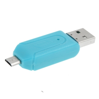 Micro USB Data Interface T-Flash / SD U-disk OTG Card Reader - Intl