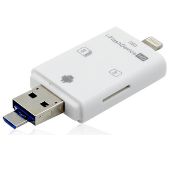 Micro USB OTG disebut TF SD memori card reader saya flash driveuntuk iPhone 5S Samsung (putih) - 4