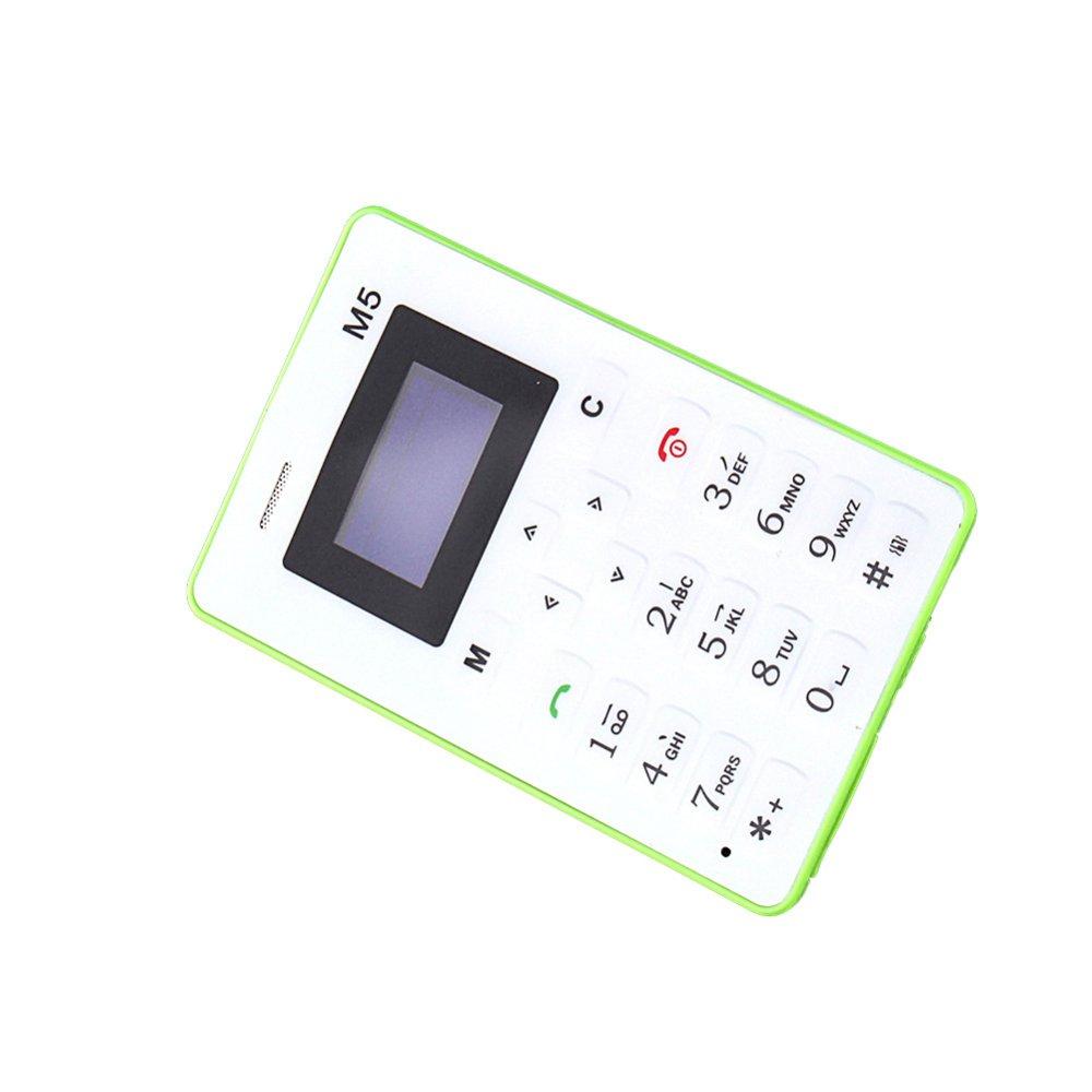 "Flash Sale Mini 1.0"" AIEK M5 GSM kartu ponsel anak dewasa Mini Pocket kartu ponsel"