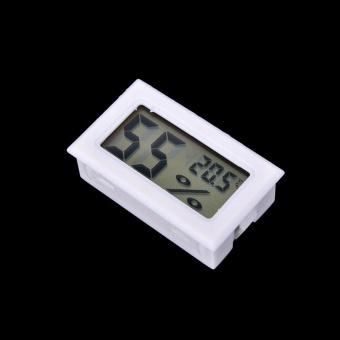 Harga Mini Digital Lcd Thermometer kelembaban Meter Gauge suhu Hygrometer putih Terbaru klik gambar.