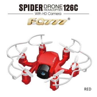Mini FQ777 126C Spider Drone 2.4G 3D 6-Axis Gyro Roll One Key Return Dual Mode 4CH with HD Camera - RED