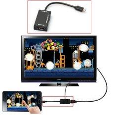 Mini Micro USB 2.0 MHL untuk HDMI kabel timah adaptor Remote Control HD 1080 P untuk