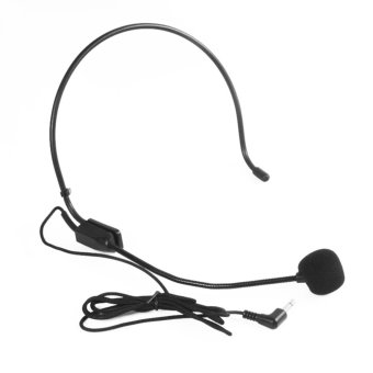 Mini Portable USB Headset Hands-free 3.5mm Jack HeadphongMicrophone Mic for Teacher Loudspeaker,Conference - Int'l - intl
