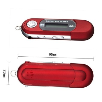 Mini size Portable USB MP3 Player Digital LCD display TF CardPlayers FM Radio - intl