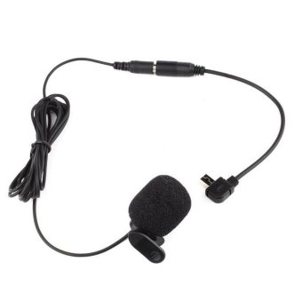 Mini USB Microphone with Clip + Mic Adapter for GoPro Hero 4/3+/3 - intl
