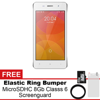 Mito A82 - 4GB - Putih + Gratis MicroSDHC 8Gb Class 6 + ElasticRing Bumper + Screenguard