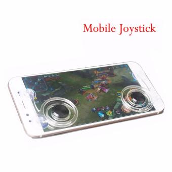 Mobile Joystick Game pad Touch Screen Joystick Perfect Mobile GameController For iPhone Android iPadmini Tablet - Clear