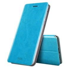 MOFI Xiaomi Mi 5 S Plus Crazy Horse Tekstur Case Kulit Horisontal Flip dengan Pemegang (Biru)-Intl