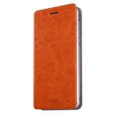 MOFI Xiaomi Redmi 3X Crazy Horse Tekstur Case Kulit Horisontal Flip dengan Pemegang (Brown)-Intl
