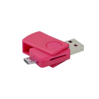 Moganics Card Reader USB OTG + Micro SD Pink - 2