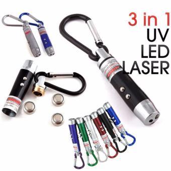 Money Detector 3IN1 Senter UV Portable - Alat Periksa Uang Palsu Alat Pendeteksi Uang Portable Multifungsi - WARNA RANDOM