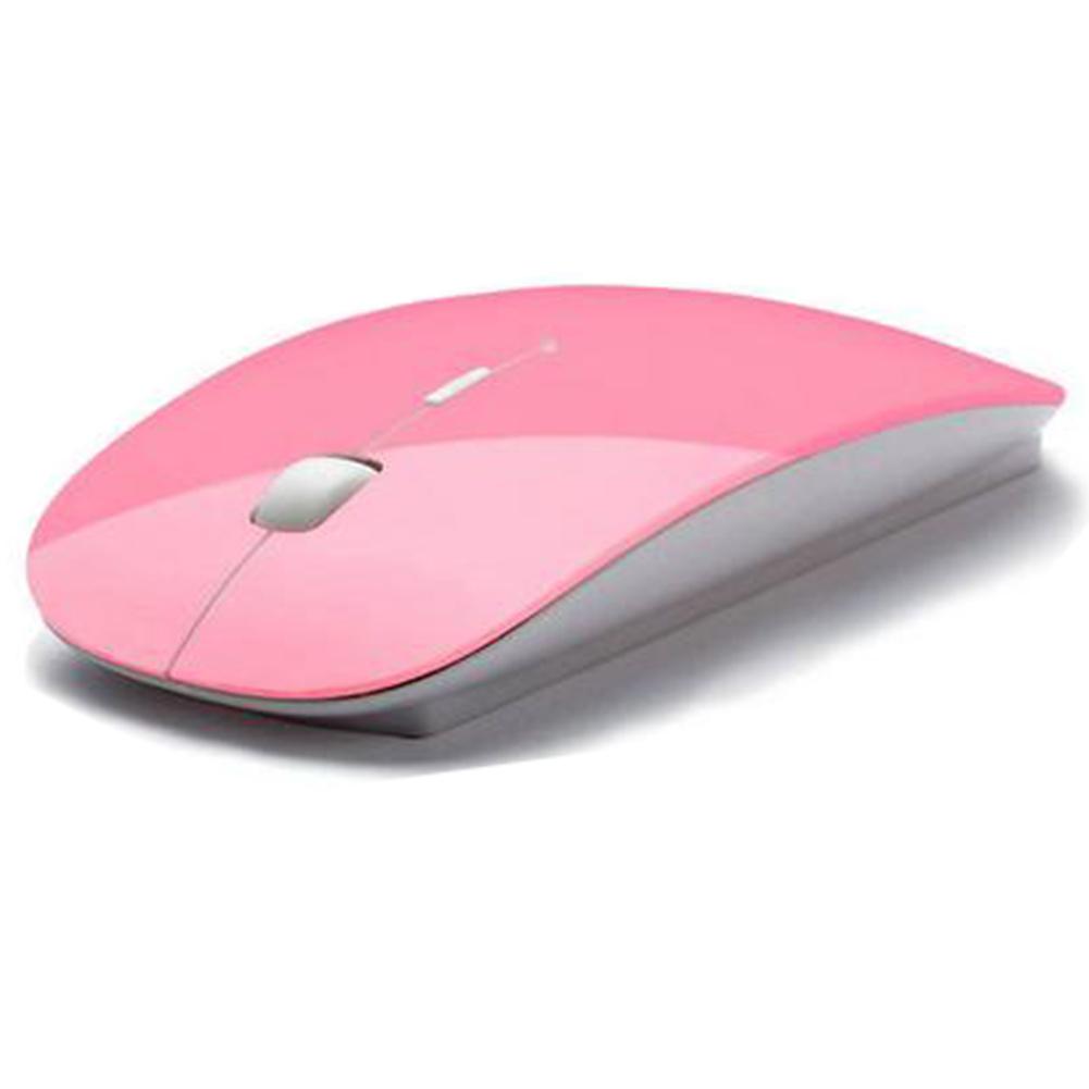 Moonar 2.4 gHz Mouse Optik USB Wireless Tanpa Kabel Untuk Laptop PC Tikus Berwarna Merah Muda ...