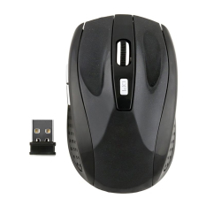 Moonar 2.4 gHz Wireless Mouse USB Optik Tikus Hitam