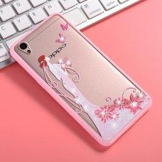 Mooncase Case For OPPO A37 Rhinestone Soft TPU Bling GlitterTransparent Back Case Cover Girl 3 -