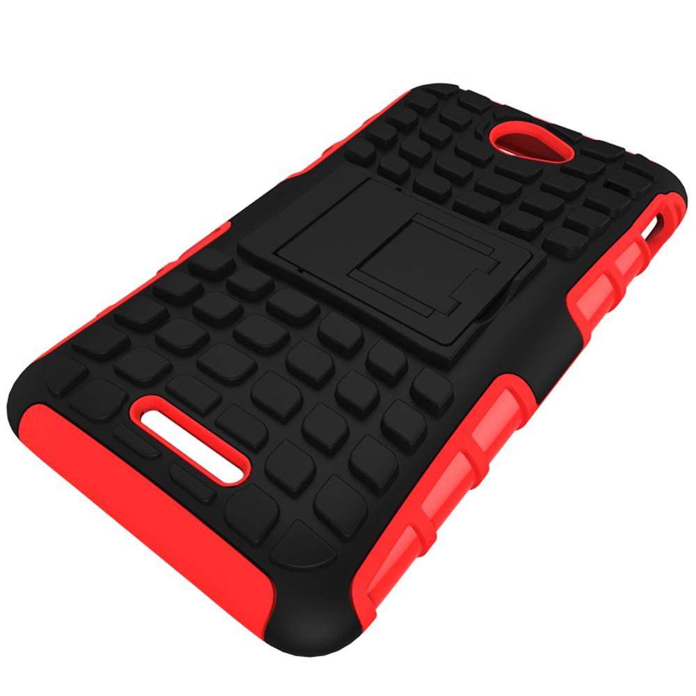 Mooncase Case For Sony Xperia E4 Detachable 2 in 1 Shockproof ToughRugged Prevent .