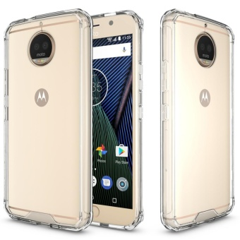 Mooncase for Motorola Moto G5S Plus Anti Shock Transparent Back Case Soft Thin TPU Case Cover Clear - intl