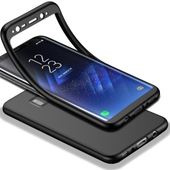 MOONCASE Full-Body Case Shockproof Soft TPU Matte Finish Slim Cover2 in 1 Full Coverage Protection for Samsung Galaxy S8 Plus Black -intl
