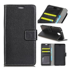 Moonmini Case Cover, LG Q8 / LG V20 Mini Litchi Grain Pattern PU Leather Wallet Case Magnetic Flip Stand Cover with Card Slots Photo Frame - intl
